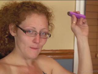 Multiple orgasms - redhead MILF Ivy rides a dildo