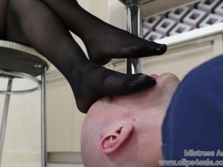 Mistress Astra – Sweaty Nylons Humiliation – Foot Worship – Foot Sniffing, Fetish