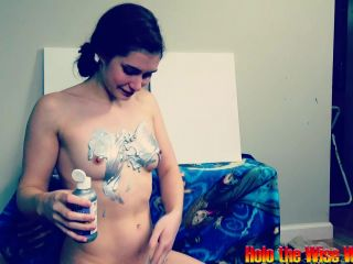 ManyVids presents Holothewisewulf in colorful cum and shower live