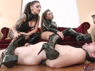 K2s.cc – ClubDom – Two Mistresses Get Boots Worshiped
