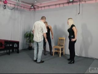 Leather Boots – CRUEL PUNISHMENTS – SEVERE FEMDOM TRIBUTE – Dirty boot cleaner – Mistress Zita and Mistress Melanie