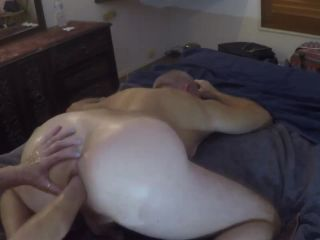 Meg deep anal fisting Mike and getting 2 hands in ass