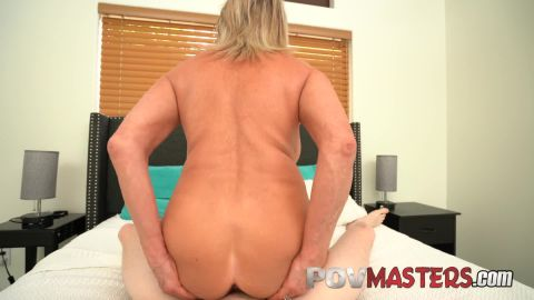 Payton Hall - Sexy Busty Blonde Cougar Takes Big Dick POV [FullHD 1080P]