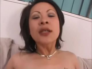 Mature hairy asian tiger mom blacked