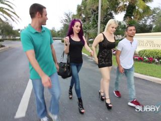 Foot Worship – SubbyHubby – A Cuckold Dreams Of Sex Part 1 – Heel Licking Cuck – Valora and Nadia