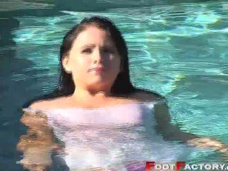 Fetish Video - Chloe Jones Pool Intro