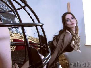 Stockings And Suspenders – FemmeFataleFilms – The Caged Sniffer – Complete Film – Mistress Serena