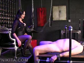 Pantyhose Domination – Mistress Nikita FemDom Videos – Obey Nikita – Nail Whore Gets Gagged