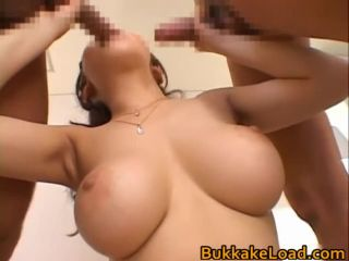Hmi asano asian chick in hard bukkake part3