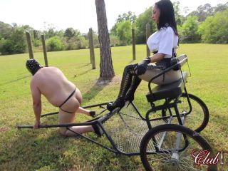 Spanking – ClubDom – Mistress Crystal Paddles The Pony Slave