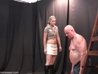 Cruel Mistresses - Mistress Larissa - Come Here For A Slap - bare bottom spanking on bdsm porn