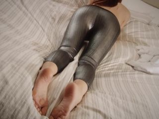 Putting on Silver Leggings