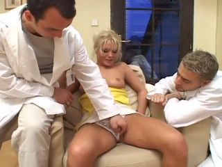 Two Doctors Double Team A Hot Blond Kathy Anderson, Dr. Lars