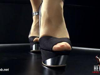 Heel Slut in Shine Her Silver Heels