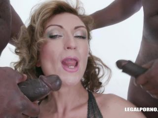 LegalPorno presents First anal first black cocks for kinky bitch Julia North IV334 —