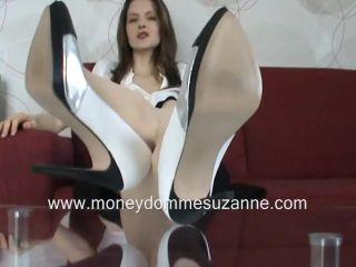 Nylon feet – Beautiful lady Suzanne – My shoe and foot licker
