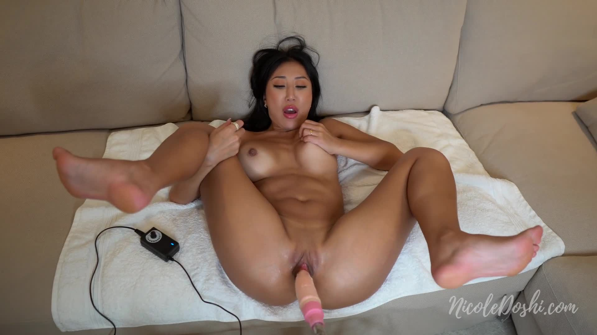 Asian Hairy Pussy Cumshot