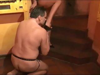 3182 Horny Mistress hard fucks ass of dude