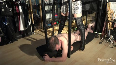 Domina Jemma starring in video (Weedy Little Creature) of (Merciless Dominas) studio [FullHD 1080P]