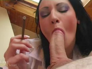 Smoking Porn – 8473 – Britannia Gives A Horny Smokey Blowjob
