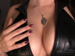 Goddess Alexandra Snow – Leather Tit Worship