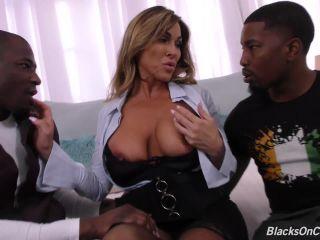 Aubrey Black in And Big Black Cock 2 on 1