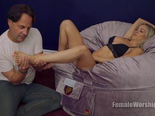 Porn online Female Worship – Now Back To Rubbing My Feet. Starring Blake Morgan femdom