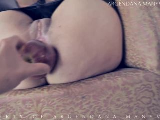 anal fisting - ArgenDana in Amazing mature Double fisting, Anal prolapse (Gape Rosebud And XXL Apple)