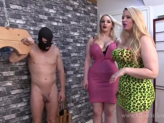 Online Fetish video Whipping – Club Stiletto FemDom – We Maxed Out Your Cards, Time To Suffer – Princess Skylar and Domina Ruby
