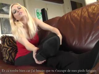 French girls feet sock joi