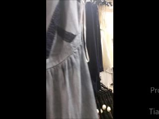 ManyVids presents TianaLive in Mall Dressing Room Cumshow