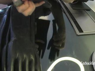 Rubber gloves black