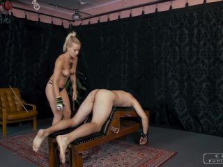Corporal Punishment – CRUEL PUNISHMENTS – SEVERE FEMDOM – Topless caning with Anette