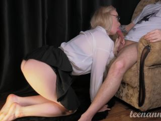 Fucked Mouth And Throat Schoolgirl With Glasses