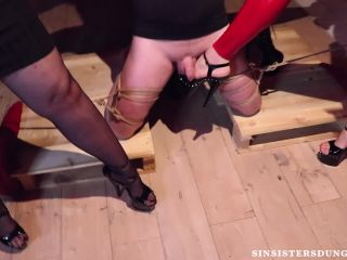 """SIN SISTERS DUNGEON: """"BALLBUSTING PARTY"""" (CBT, BALLBUSTING, TRIPLE DOMINATION)"""