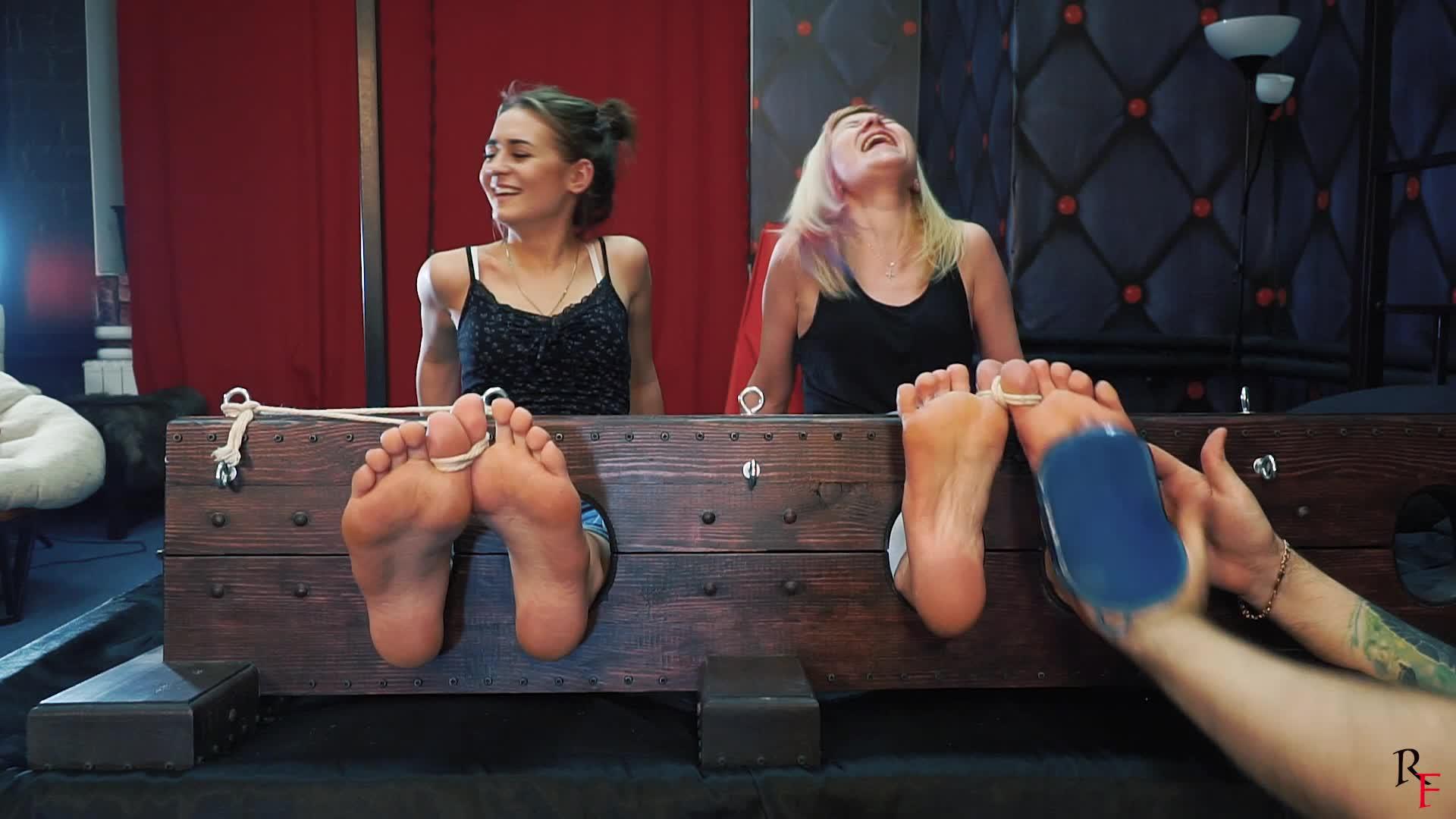 Black Nylon Feet Worship