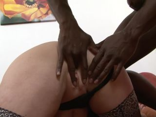 Mature milf with glasses love to fuck and suck black cock
