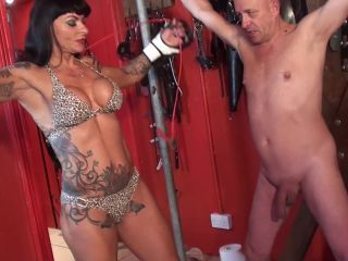 mistress dometria  ballbusting on day  from chastity  ballbusting