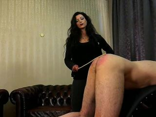 Leather Corset – SADO LADIES Femdom Clips – 6 Canings In 24 Hours – Domina Charlize