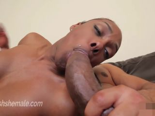 Porn Black shemale takes a ridicully big thick cock