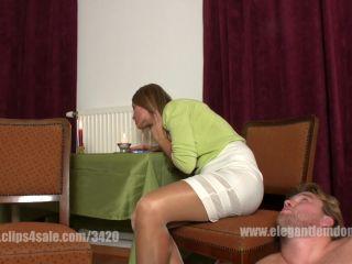 Dangling – Elegant femdom – efcl473 human ashtray – Lady Demona