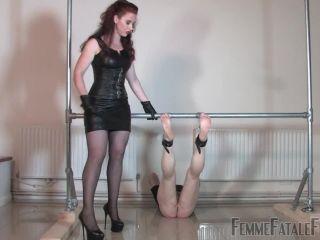 Femdom – Femme Fatale Films – Brutal Bastinado – Complete Film – Mistress Lady Renee