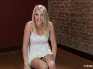 Beautiful Petite Blonde Tied-Up and Fisted in Public - Kink  July 19, 2013