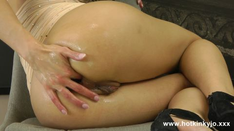 Hot Kinky Jo - Stairs in the back self anal fisting (1080p)