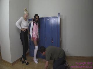 Porn online Brat Princess 2 – Jennifer and Jenna – Slap and Spit on Janitor femdom