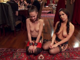 Two Beautiful Cock Sluts Entertain the Sunday Brunch Crowd - Kink  January 10, 2014
