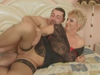 Beautiful blonde italian bbw granny fucked