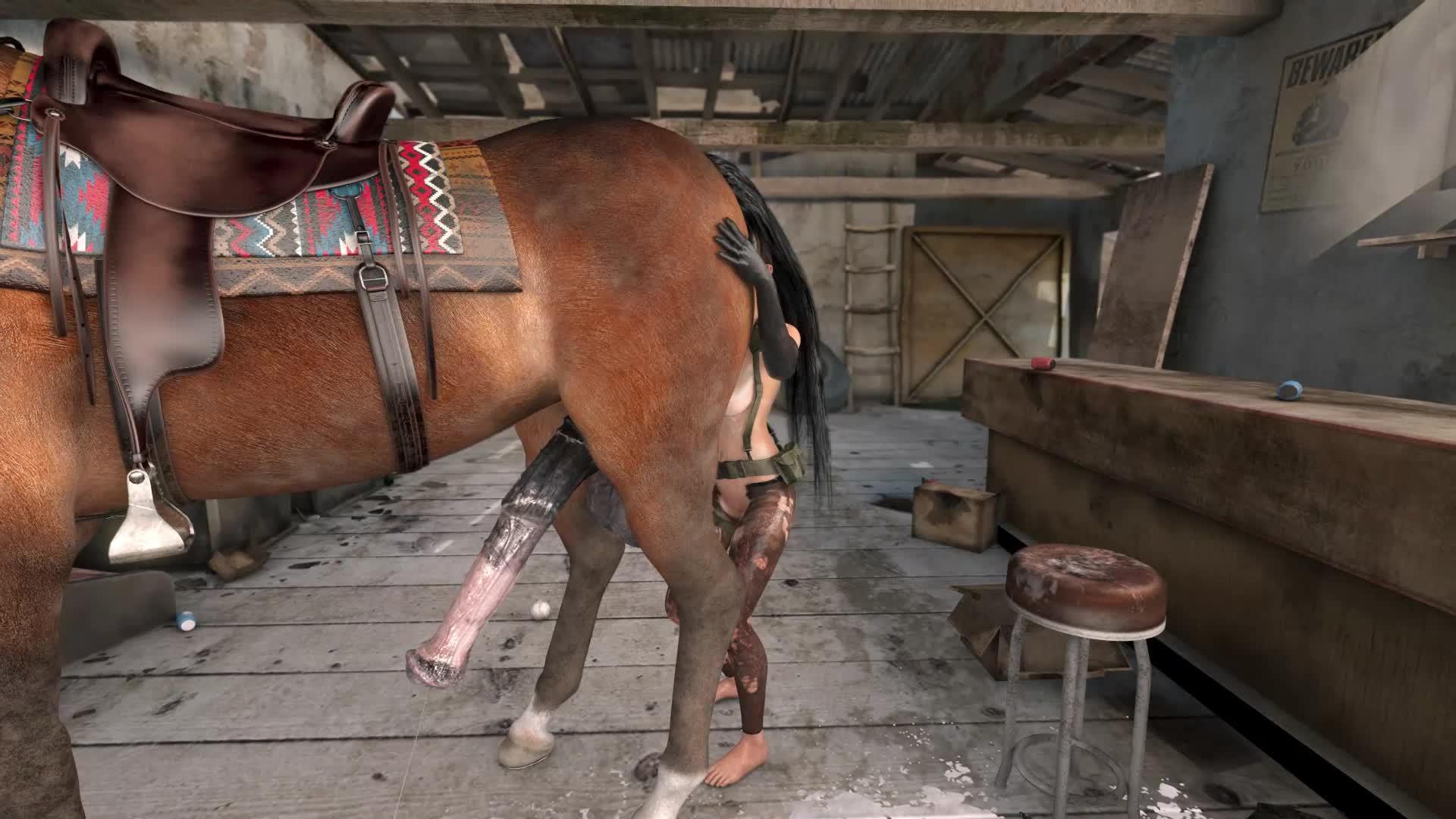 Horse 3d hentai Хентай 3д