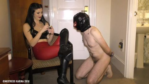 Mistress Karina starring in video (Inhale My fumes – My pleasure, your torment) [HD 720P]
