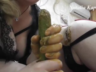 Perverted games with cucumbers in asses [FullHD 1080P] - Screenshot 4